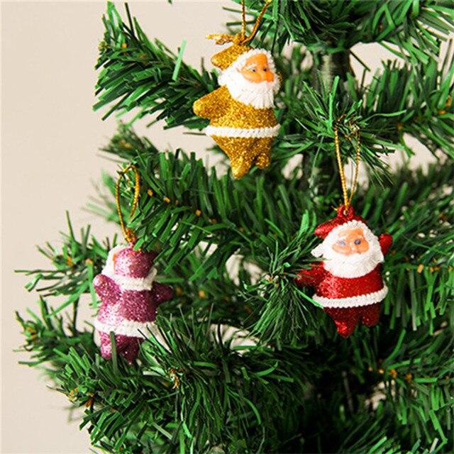 6 unids/bolsa mini multicolor muñecos de papá noel de Navidad ...