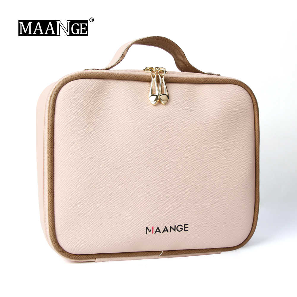 MAANGE 1 PCS Cosmetic Bag Makeup Brush Case Travel Makeup Pouch Beauty Container Makeup Brush Holder Storage Cosmetic Organizer