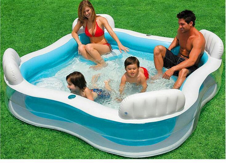 Famille gonflable piscine dossier de siège de bain piscine