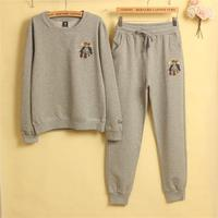 Spring Autumn Women embroidery Tracksuits Set Tops + Pants Two Pieces Set Track Suit Women Suit Casual Sportswear Feminine T
