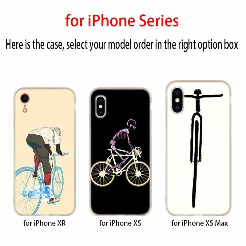 دراجة الدراجات الفن لينة غطاء إطار هاتف محمول آيفون 11 برو 2019 XI R 4 5 5s SE 6 6 S 7 8 Plus x XR XS ماكس eتوي Funda حالات