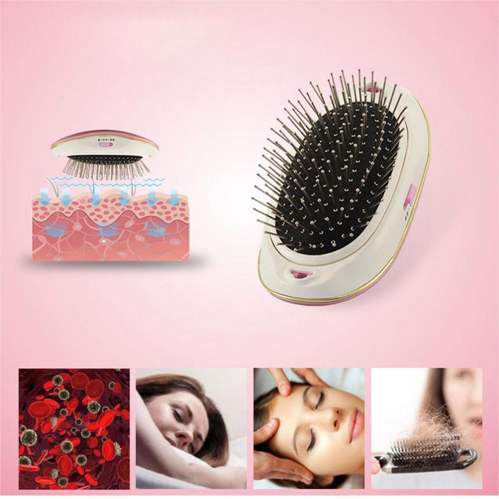 PRETTYSEE Salon Vibrating Hair Brush Fast Hair Straightener Comb Hair Electric Loss Massage Comb Straightening Comb Electric antistatic hair straightening detangled massage comb