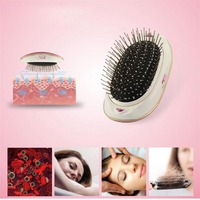 PRETTYSEE Salon Vibrating Hair Brush Fast Hair Straightener Comb Hair Electric Loss Massage Comb Straightening Comb