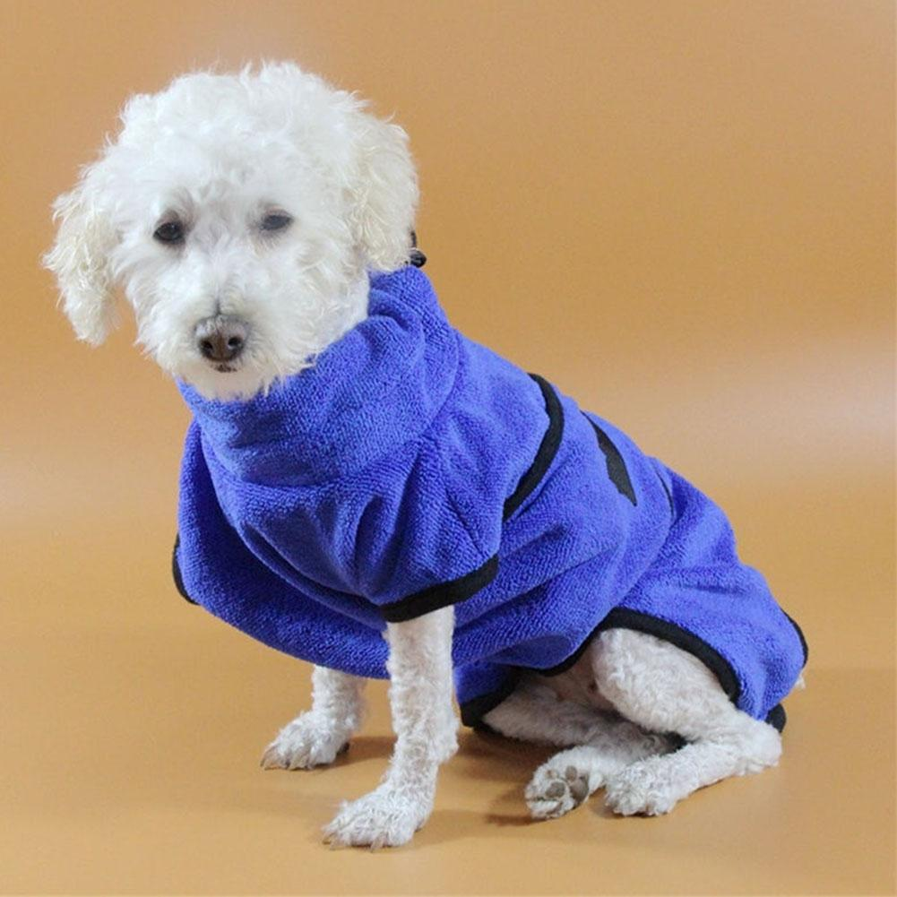 None Dog Cat Bath Robe Water Absorption Quick Drying Soft Towel -30