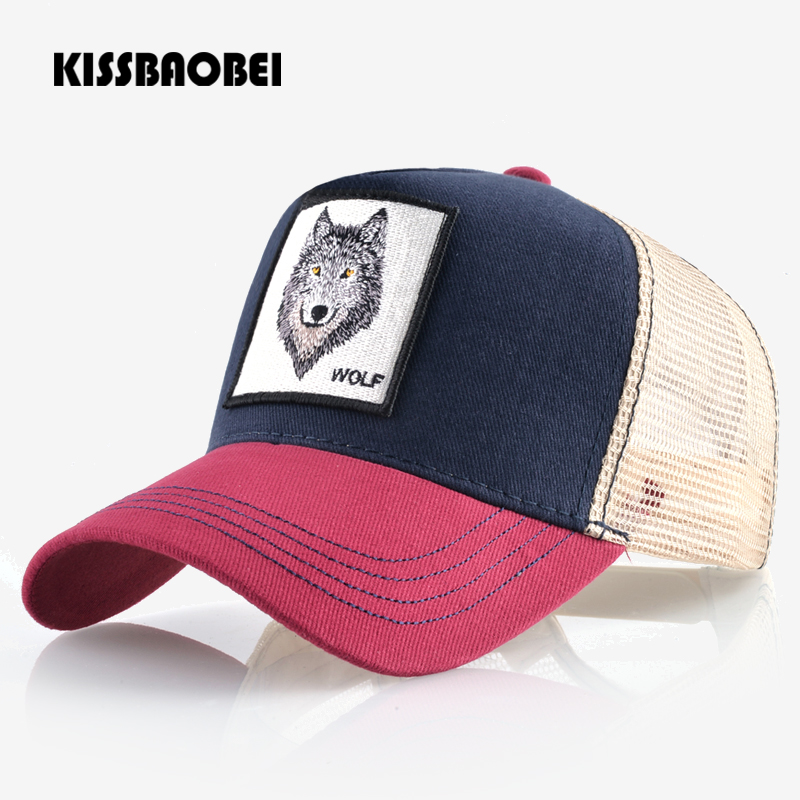 Wolf Embroidery Baseball Cap Me