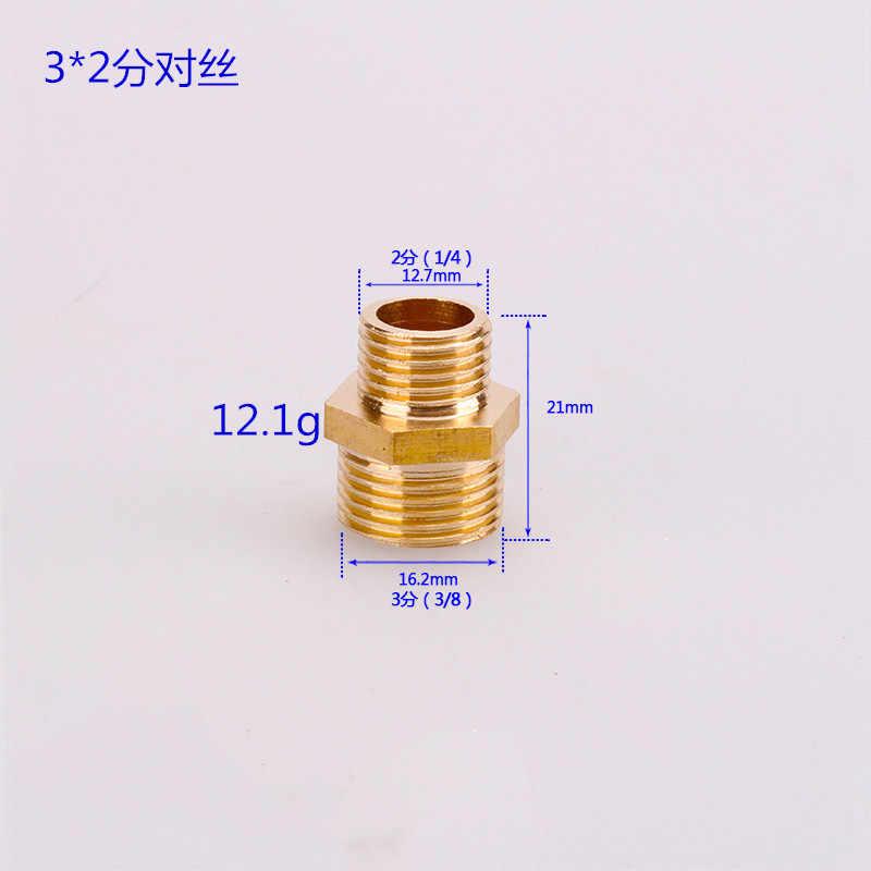 1/8 pulgadas 1/4 pulgadas 3/8 pulgadas macho 1/2 pulgadas rosca de latón hexagonal conector de pezón BSP macho conector de rosca rápido adaptador