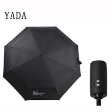 YADA Fashion 10K Double Layer Automatic Umbrella For Women UV Folding Umbrellas Rainproof Rain Sun Auto Parasol YD198
