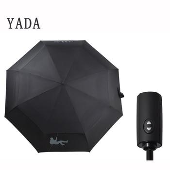 YADA Fashion 10K Double Layer Automatic Umbrella For Women UV Folding Umbrellas Rainproof Rain Sun Auto Parasol YD198
