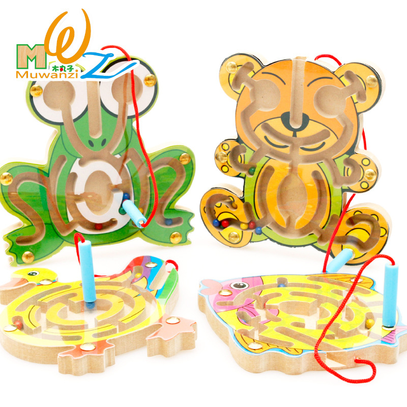 Kids Toys Of Magnetic Maze Of Early Childhood Intellectual Educational Toy For Children