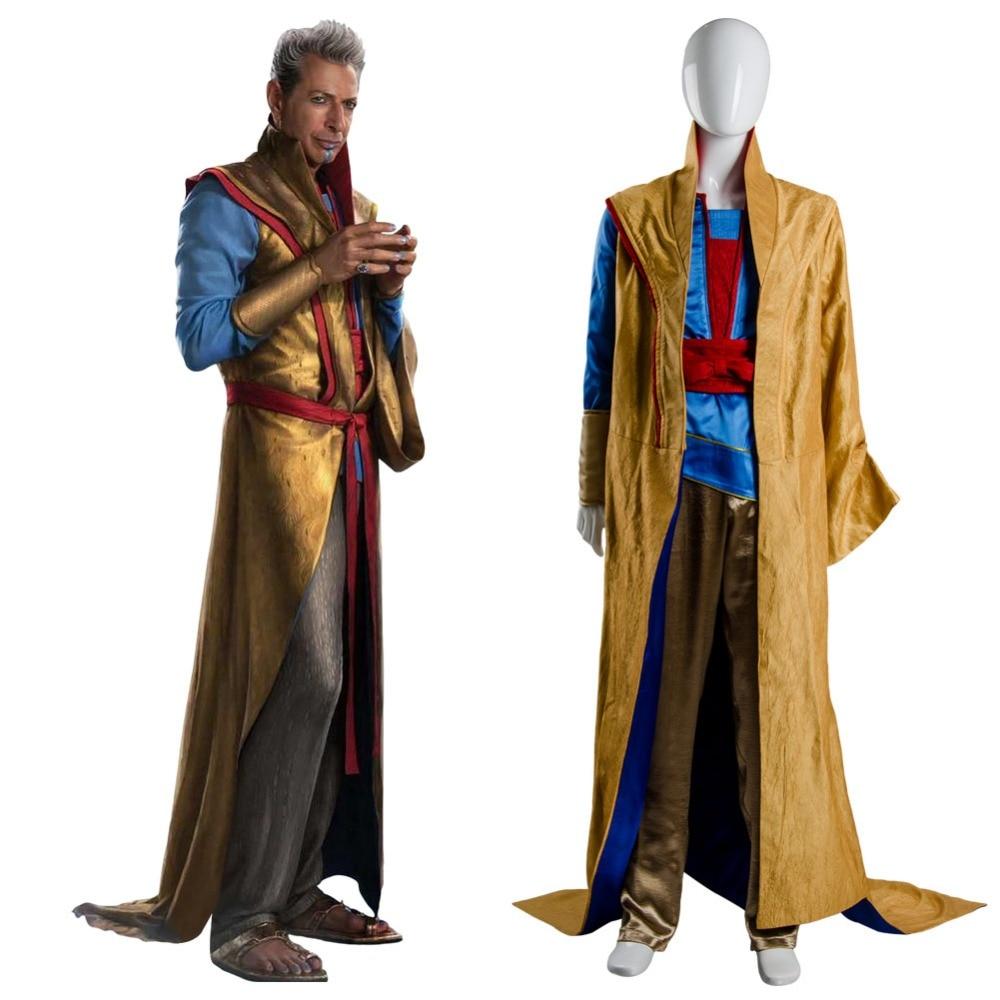 Cosplay Thor 3 Ragnarok Grandmaster En Dwi Gast Robe Costume Full Set Uniform Halloween Carnival costume adult Women and Men
