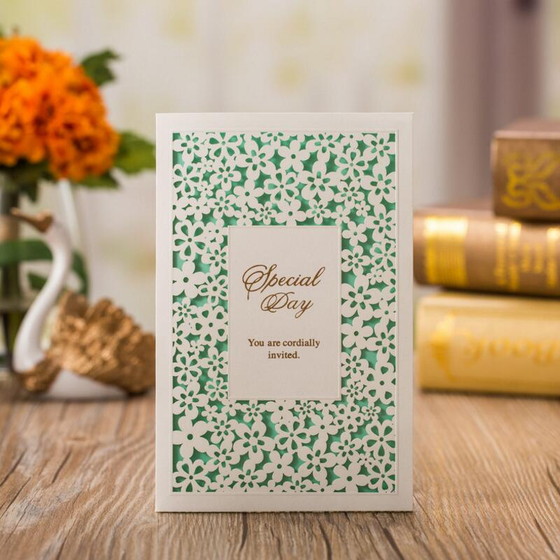 50pcs/pack Hollow Floral Favors Laser Cut Wedding Invitation with Inside Page Customizable Business Birthday Party Invitation global elementary coursebook with eworkbook pack
