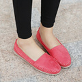 2015 New fashion soft women Loafers Platform Lovely girl flat shoes Slip on College style Shoes 4 colors driving shoes