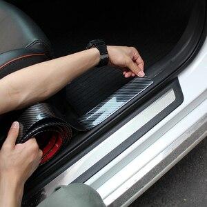 Image 5 - 2M Auto Aufkleber Tür Rand Schutz Protector Carbon Faser Film Rubber Moulding Trim Streifen DIY 3 Farben Für Auto styling Zubehör