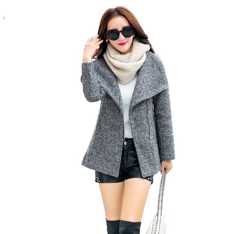 Nouveau 2018 Casual Grey dark Printemps Mode Femmes Tempérament Manteaux red Laine Femme Hiver De Vêtements Slim Vestes Manteau Gray rrdPqTw