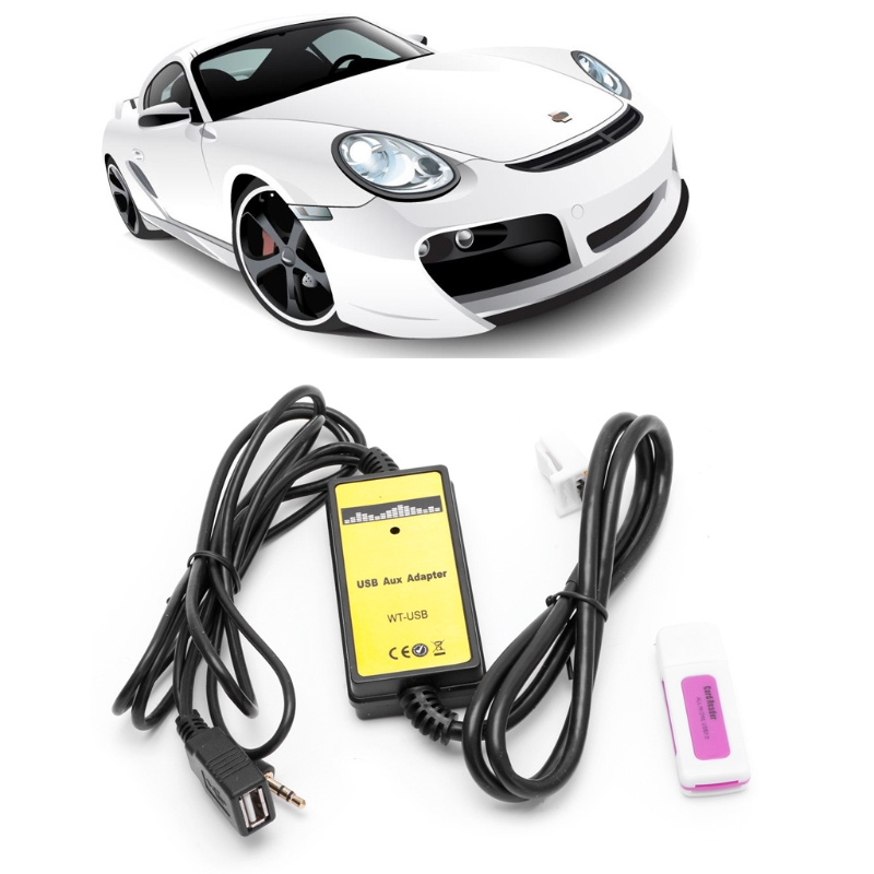 Car Kit Car Audio CD Adapter Changer MP3 Interface AUX SD USB Data Cable 2x6Pin For Toyota Camry Corolla Matrix