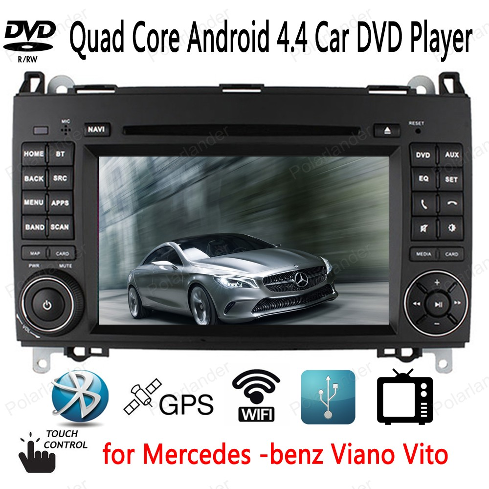 Android 4.4 GPS Navigation Car DVD Player for Mercedes benz B200 W169 A160 Viano Vito support BT 3G/wifi TV CD USB SD AUX