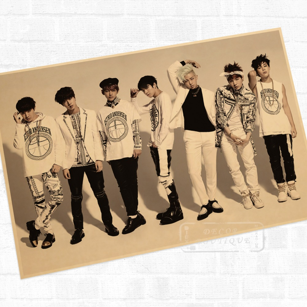 Online Shop BTS, Wake up and Album Music Wall Mural Poster ...