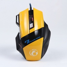 X7 Wired Gaming Mouse 7 Button 3200 PI LED Optical USB Game Mouse With LED Shining Optical Computer Notebook Gaming Mice