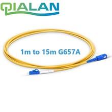 Cordon de raccordement optique LC UPC à SC UPC câble de raccordement G657A cordon optique Simplex 2.0mm PVC LC SC connecteur FTTH câble optique