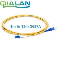סיבים אופטיים Patchcord LC UPC כדי SC UPC מגשר כבל G657A אופטי כבל סימפלקס 2.0mm PVC LC SC מחבר FTTH אופטי כבל