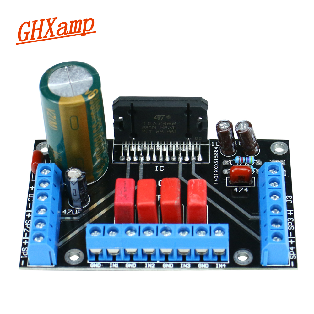 ghxamp four channel power amplifier module with heat sink amplifier board 4x41w dc12v finished. Black Bedroom Furniture Sets. Home Design Ideas