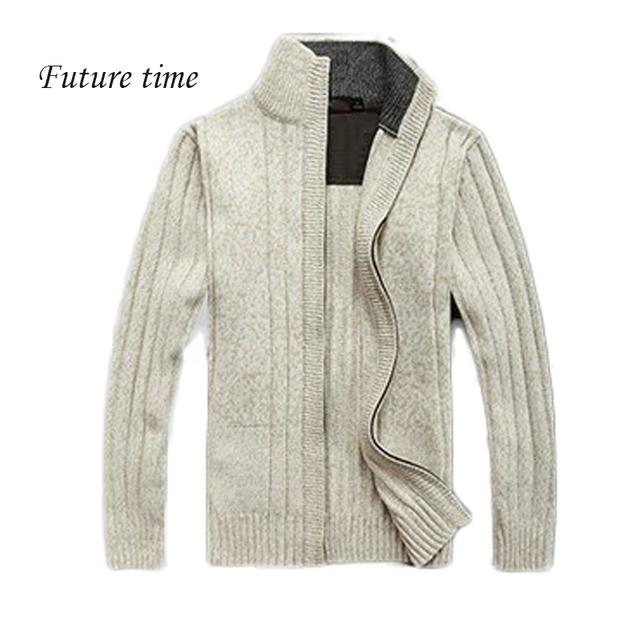 2017 Novo inverno quente roupas de lã ocasional camisola dos homens camisola da marca para homens, casacos de malha de algodão camisola dos homens gola C0179