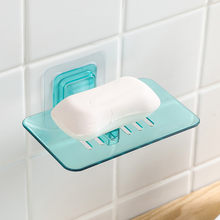 Bathroom Shower Soap Box Dish Storage Plate Tray Holder Case Soap Holder Bathroom Tray Accessories Box Shelf Wall Dishes Q2(China)
