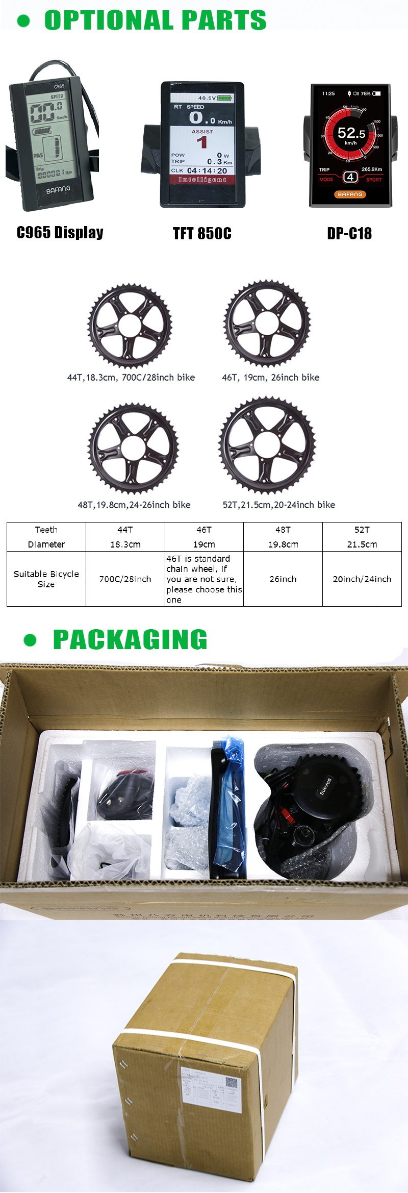 Excellent Bafang Mid Drive Kit Electric Motor 36V 500W Bafang BBS02 Motor E-bike Kit with Electric Bike Battery Kit 36V 13AH Bike Battery 5