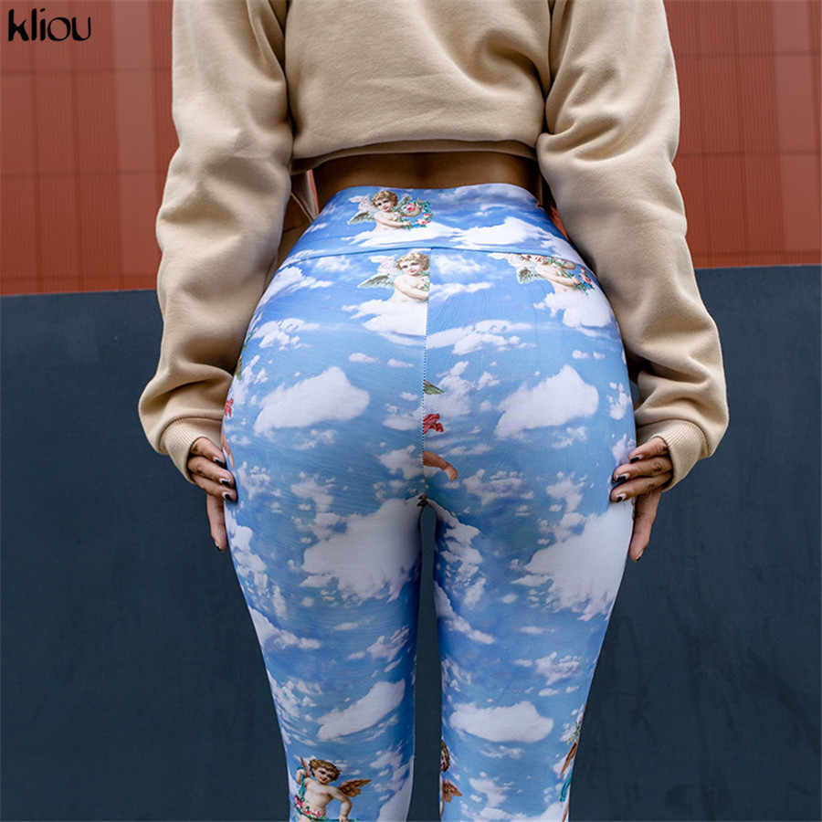ad2262e3a76de5 ... Kliou Cupid print women fitness leggings fashion street lovely  Christmas workout pants elastic high waist sporting ...