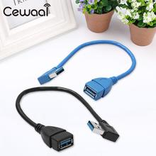 USB 3.0 Connecting Line A Male to Female right corner turn cable Laptop PC Computer High Quality