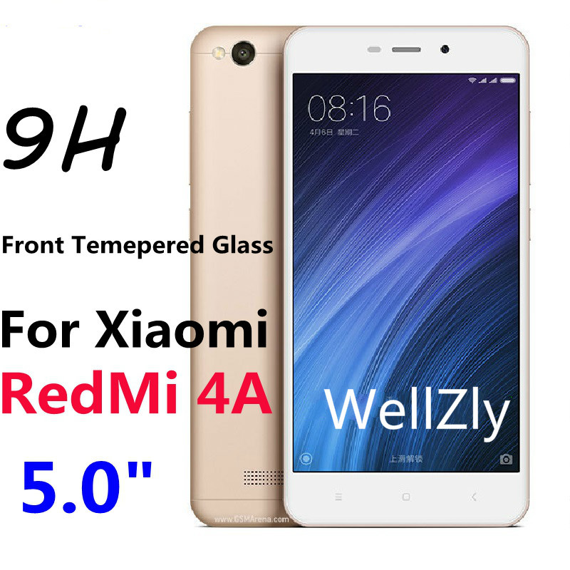 Full Coverage Tempered Glass For Xiaomi Redmi 4a Stock 9H Hard 0.26mm Protective Film Screen Protector On for Xiaomi Redmi 4a