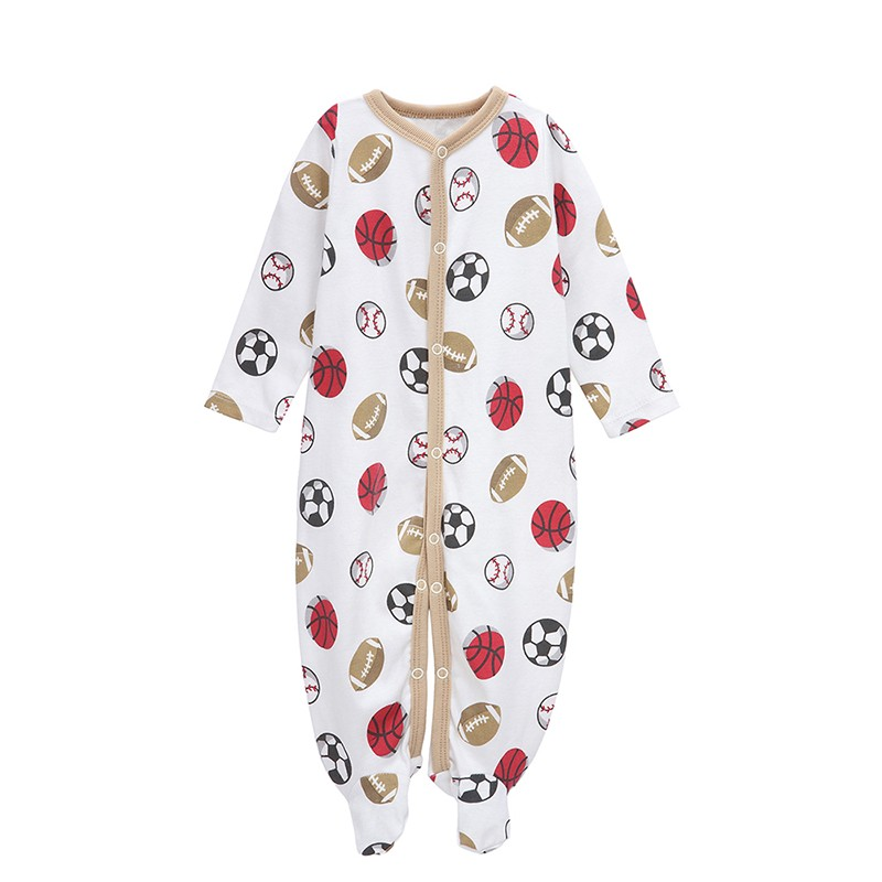 Romper do bebê Mangas Compridas 100% Pijama de Algodão Do Bebê Dos Desenhos Animados Impresso Bebê Recém-nascido Meninas Meninos Roupas