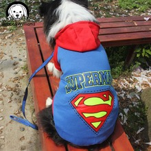 Bruce&Williams Large Dog Clothes Superman Big Dog Coat Hoodies Sport Golden Retriever Clothing Pet Outwears For Dogs DC188