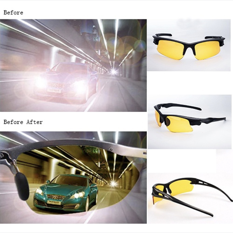 Night Vision glasses Sunglasses Men Women Goggles Glasses UV400 Sun Glasses Driver Night Driving Eyewear new cat eye sunglasses woman brand design gafas de sol flat top mirror sun glasses for women lunettes oculos de sol feminino