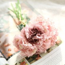купить 1 bouquet Artificial Flower Hydrangea Peony Bridal Bouquet Silk Flower For wedding Valentine's Day Party home DIY Decoration дешево