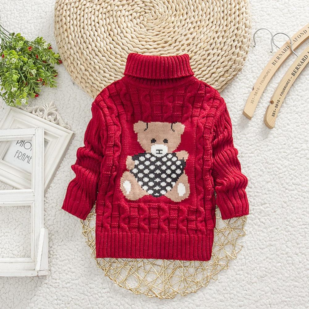 082e6fce56f1 Hot New Baby Girls Sweater Bear Children Kids Knitted Crochet Winter ...