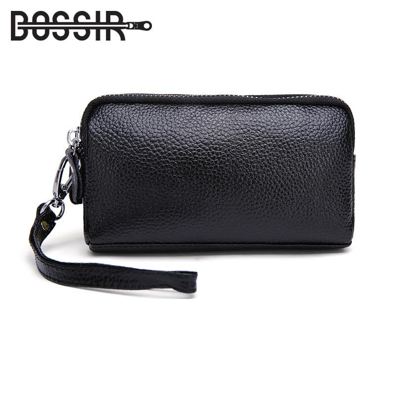 купить Leather Women Coin Purse With Double Zipper Designer Fashion Women Purse Small Clutch Bag Leather Purse Wallet HB-224 по цене 637.82 рублей