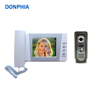 4.3 Clear LCD Screen Wired Video Door Phone Intercom Doorbell Kit IR Night Vision Camera Door Bell Intercom Doorphone unlock