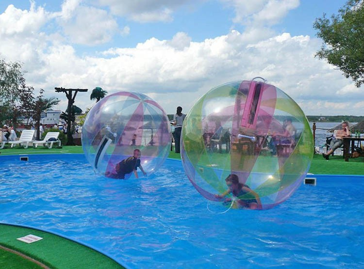 Transparent boule Gonflable De Zorb de L'eau Pour La Piscine/Mer/Lac 1.5m Dia Boule Gonflable De Rouleau De L'eau/Boule De Marche De L'eau L'eau Roues