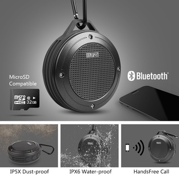 Altavoz inalámbrico Bluetooth con micrófono, estéreo, IXP6 2