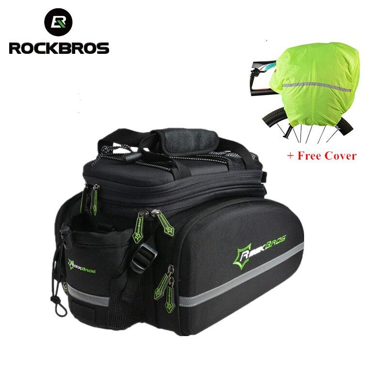 ROCKBROS 35L VTT sacs de vélo Rack Cadre Sac Étanche Multifonctionnel 3 Dans 1 Réfléchissant Vélo Big Pack Vélo Bagages Sacs