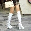 2015 nueva llegada del otoño mujeres High botas Wedge Ladies Motorcycle Boots plataforma botas de caballero