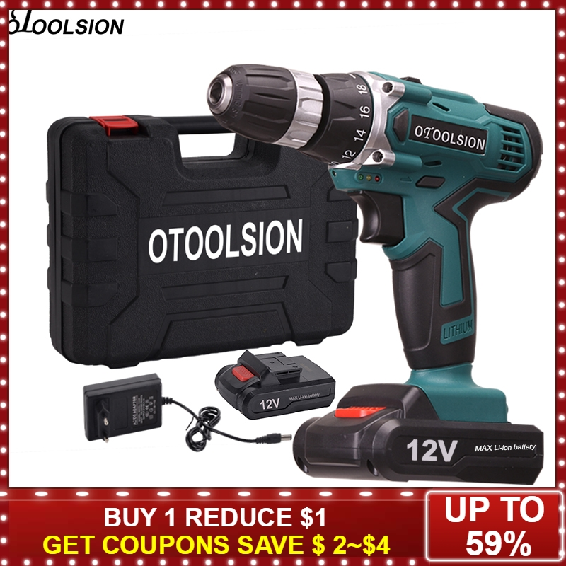 12V Plus Electric Drill 1.5 Ah Screwdriver Electric Cordless Drill Variable Speed Waterproof Cordless Drill 10mm Screwdriver12V Plus Electric Drill 1.5 Ah Screwdriver Electric Cordless Drill Variable Speed Waterproof Cordless Drill 10mm Screwdriver