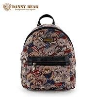 DANNY BEAR Women Small Backpack Fashion Korean High School Backpacks For Teenage Girl Brand Design Vintage Travel Back Pack Bags