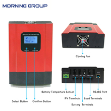 eSMART3 60A Smart MPPT Solar Charge Controller DC 12V 24V 36V 48V Auto Can With LCD RS485 WIFI Mobile APP 20A 30A 40A 50A
