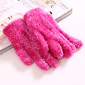 GOPLUS Stylish 2016 Winter Outdoor 4 Colors Women's Warm Outdoor Gloves Knit Gloves Mittens One Size Fur Lining Gloves for Lady