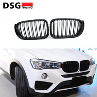 Front Kidney Grill For BMW F25 LCI F26 Bumper Racing Grille X3 X4 M Look xDrive18d xDrive25i xDrive30i 2014+ ABS Gloss Black