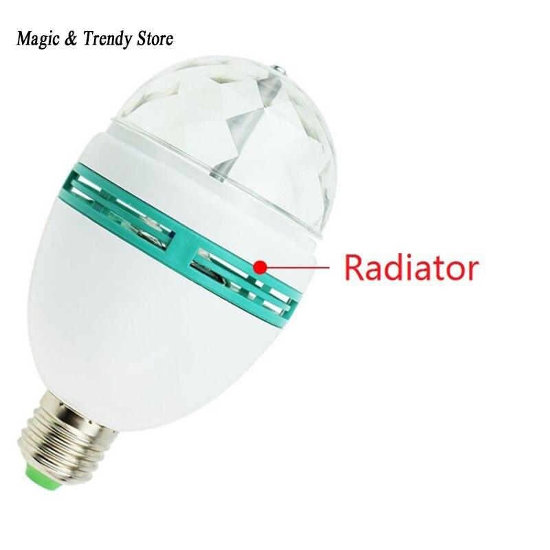 E27 B22 3 Вт 110 В-220 В красочные Авто вращающийся rgb проектор кристалл LED Свет этапа ...