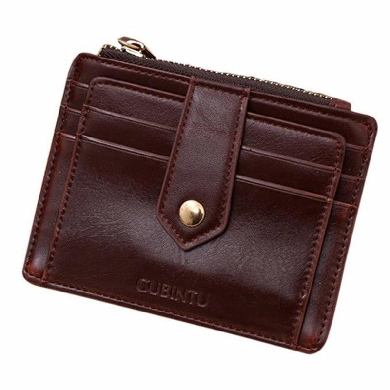mini women wallets leather genuine slim credit card holder