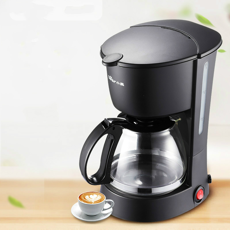 American Drip Coffee Maker 600ml Anti-explosion Glass Kettle Mini Portable Automatic Tea and Coffee Machine Moka Cafetiere coffee maker uses the american drizzle to make tea drinking machine